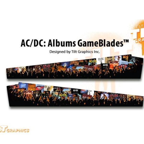ACDC Pinball Albums Sideblades