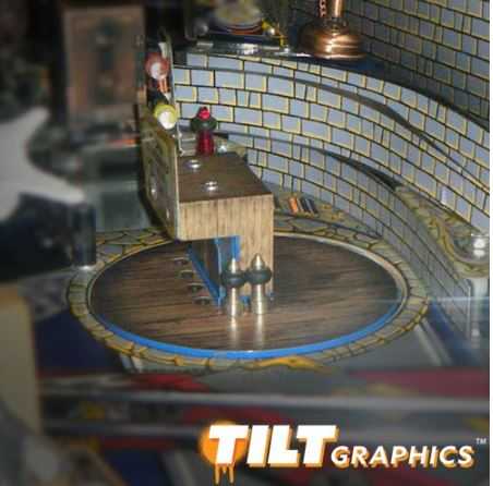 Addams Family Pinball Bookcase Decal Set 3