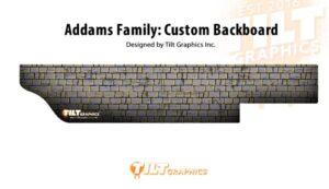 Addams Family Pinball Custom Backboard Wall Decal