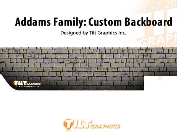 Addams Family Pinball Custom Backboard Wall Decal