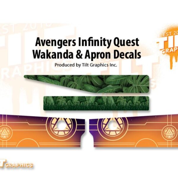 Avengers Infinity Quest Wakanda and Apron Decals