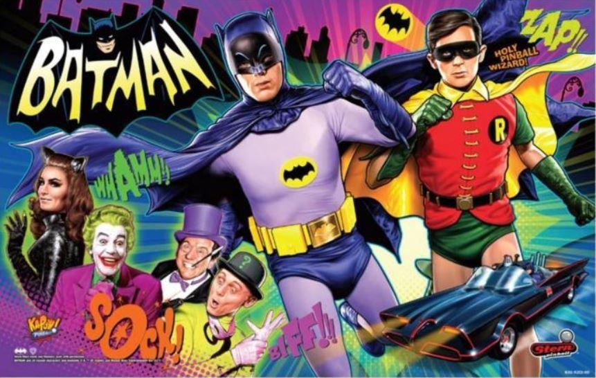 Batman 66 Pinball Translite