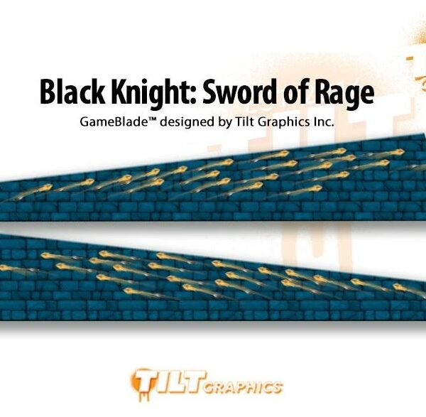 Black Knight Sword of Rage Pinball Game Blades