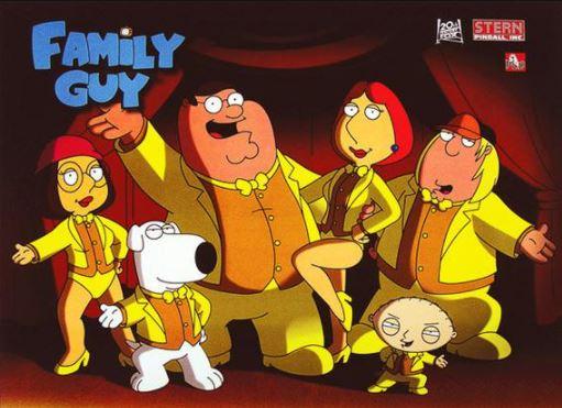 Family Guy Pinball Translite
