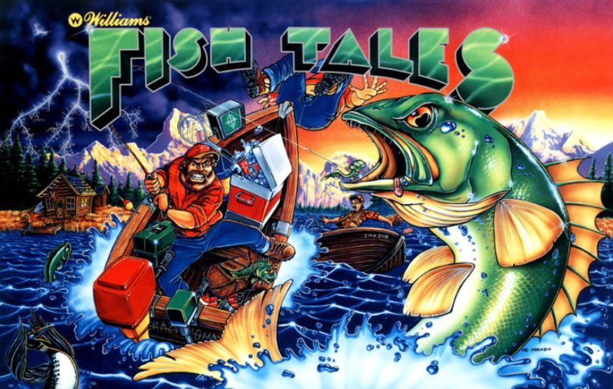 Fish Tales Pinball Backglass