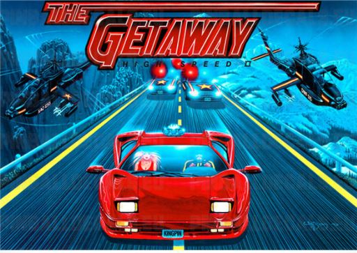 Getaway High Speed II Pinball Translite