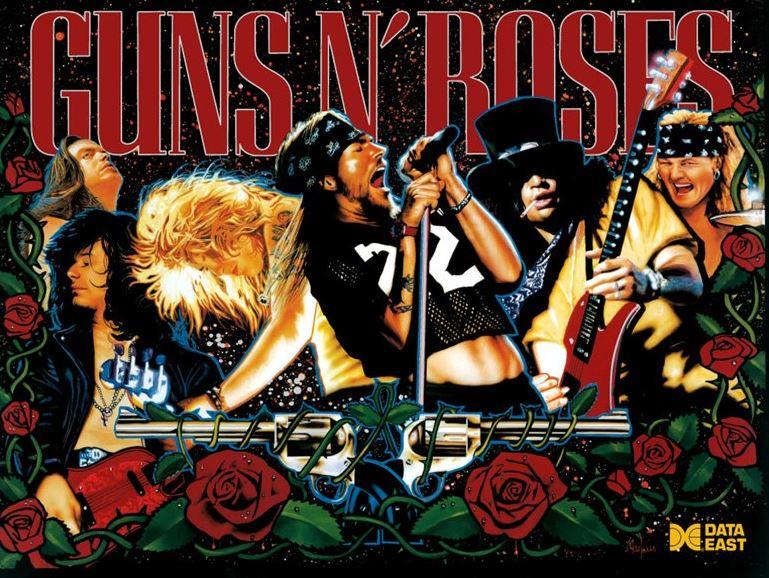 Data East Guns N Roses Pinball Translite