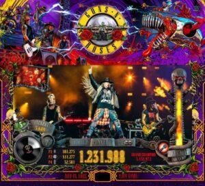 Guns N Roses JJP Backglass
