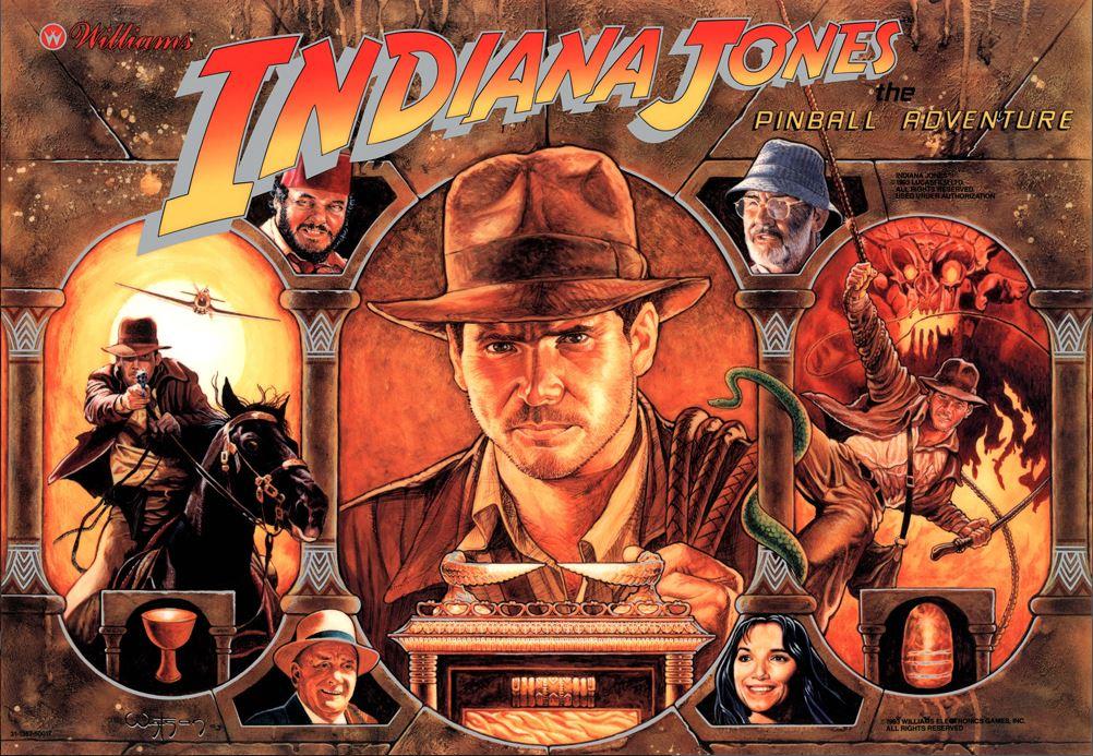 Indiana Jones Pinball Machine Backglass