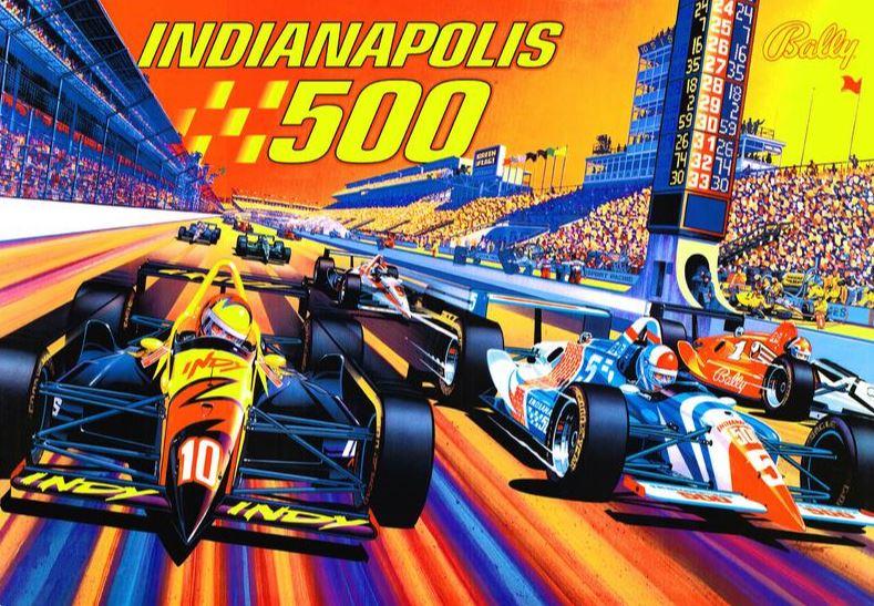 Indianapolis 500 Pinball Machine Translite