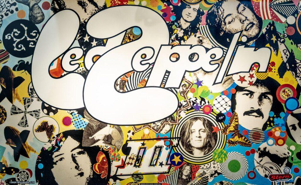 Led Zeppeling Pinball Backglass