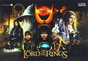 Lord of the Rings Pinball Backglass