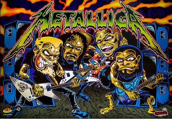 Metallica Pinball Backglass