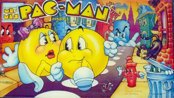 Pacman Pinball Backglass