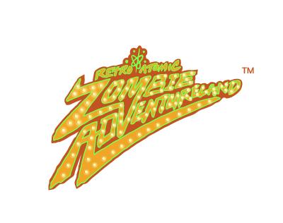 Retro Atomic Zombie Adventureland Pinball Logo