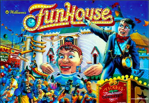 Funhouse Pinball Backglass