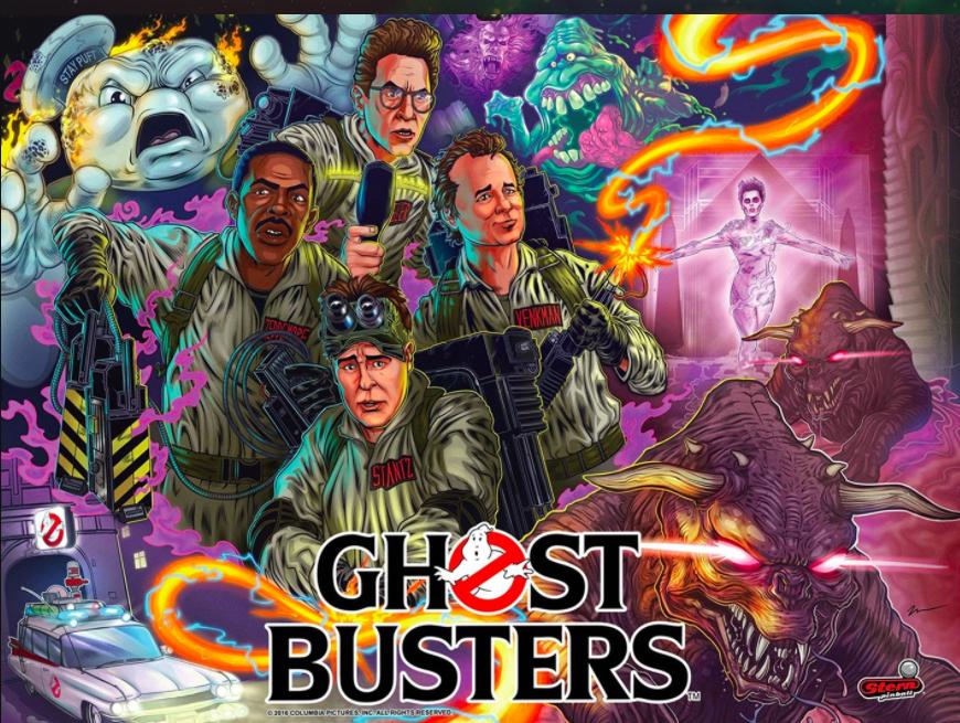 Ghostbusters Pinball Machine Backglass