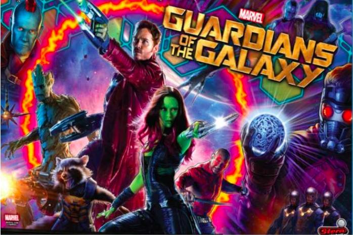 Guardians of the Galaxy Pinball Backglass