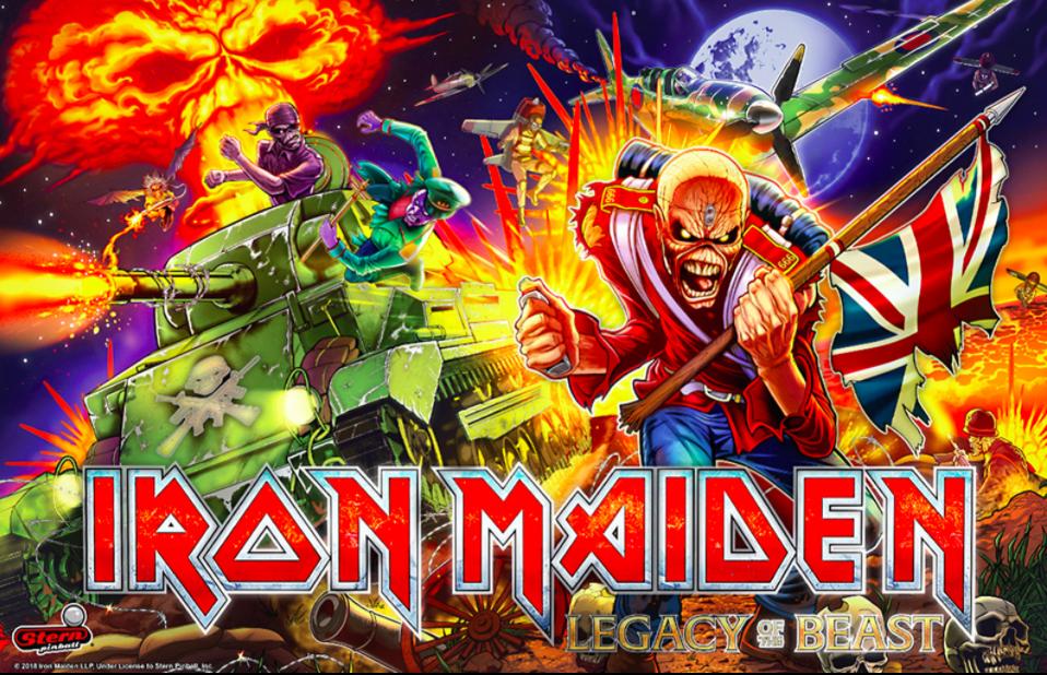 Iron Maiden Pinball Backglass