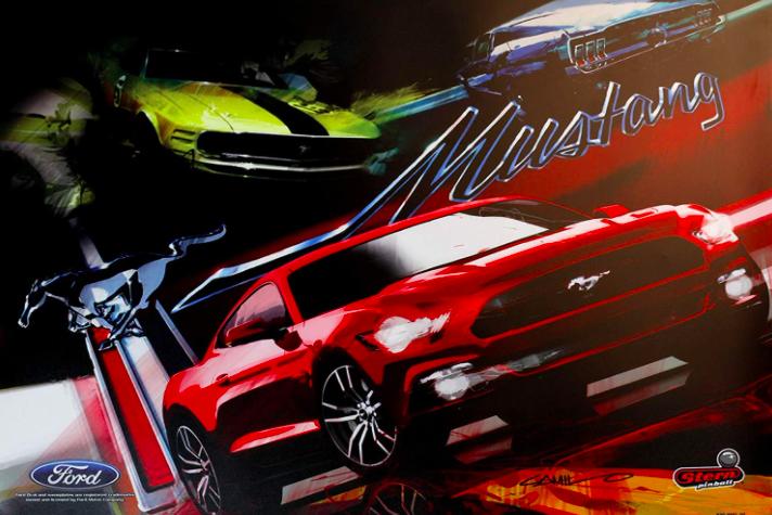 Mustang Pinball Backglass