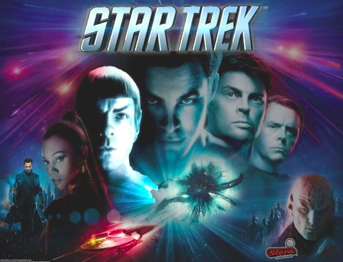 Stern Star Trek Pinball Back Glass
