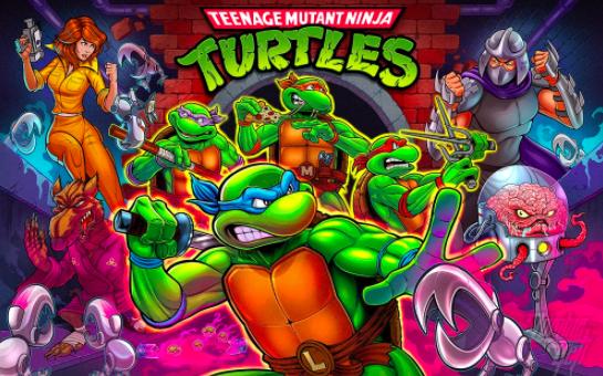 Stern Teenage Mutant Ninja Turtles Pinball Backglass