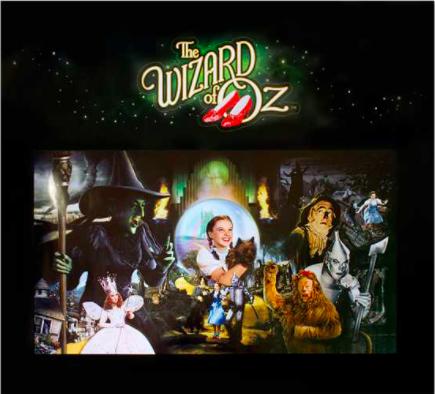 The Wizard of Oz Pinball Translite