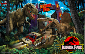 Stern Jurassic Park Pinball Backglass