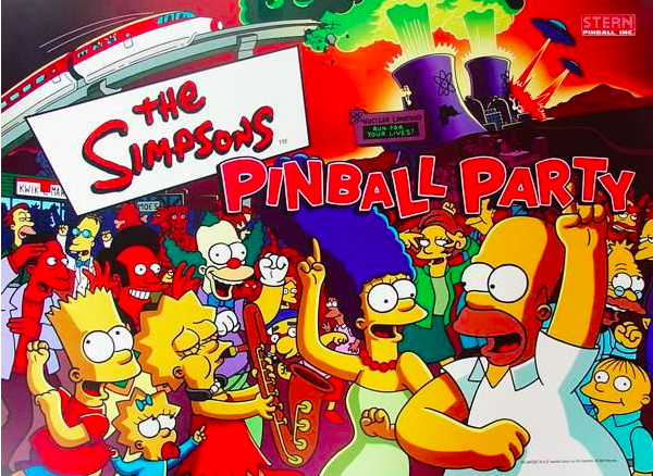 The Simpsons Pinball Party Backglass