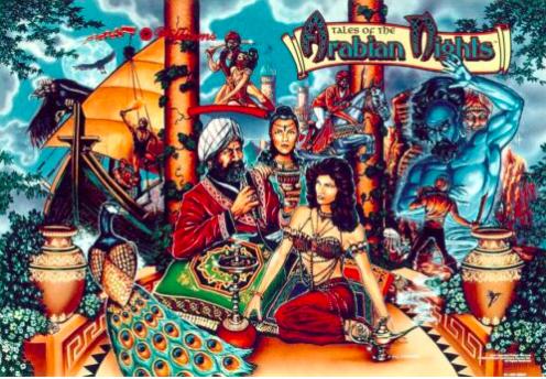 Tales of the Arabian Nights Pinball Backglass