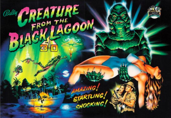 Creature from the black lagoon pinball backglass