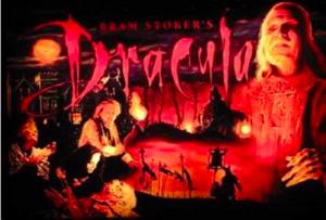Bram Stoker Dracula Pinball Translite