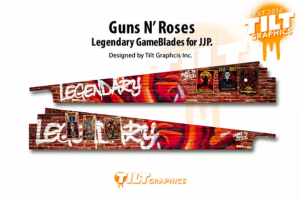 JJP Guns N' Roses Pinball Machine Art Blades
