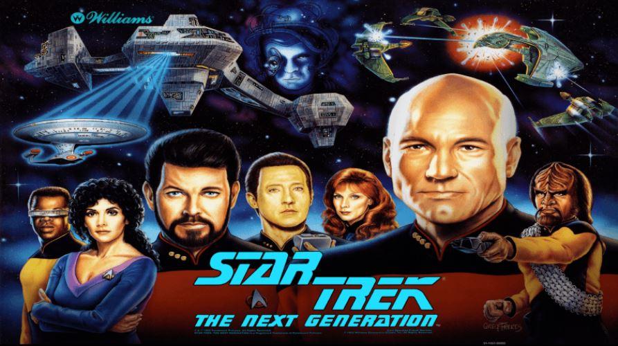 Star Trek The Next Generation Pinball Machine Backglass
