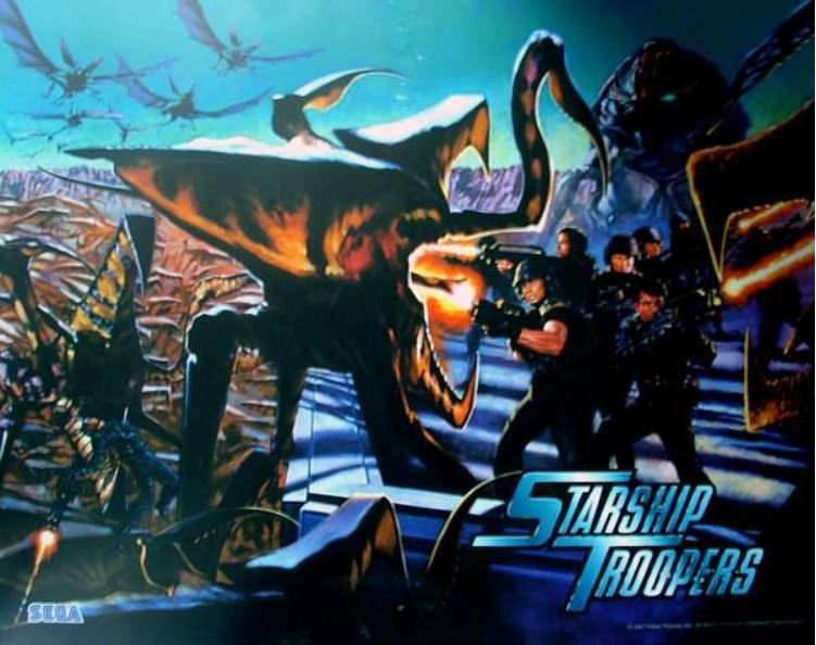 Starship Troopers Backglass
