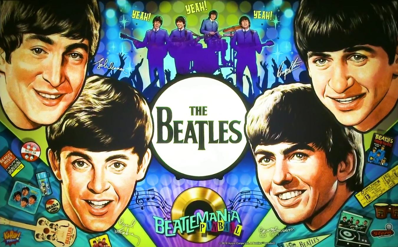 The Beatles Pinball Backglass