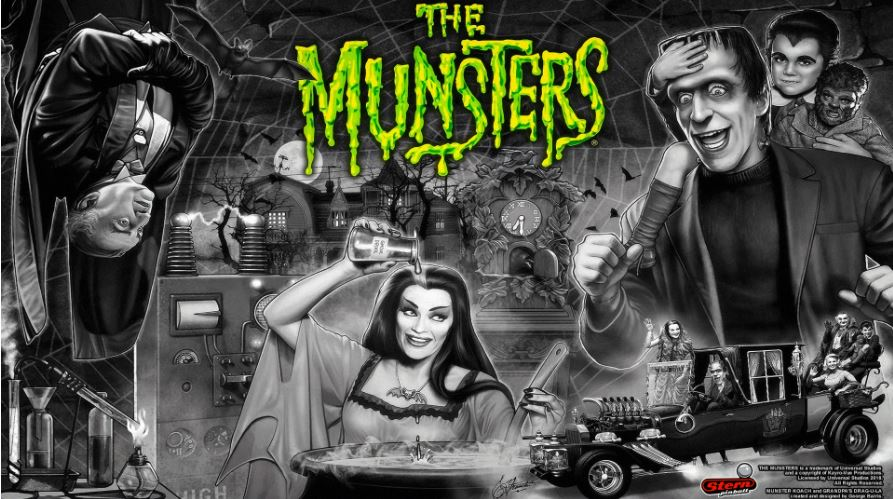The Munsters Pinball Backglass