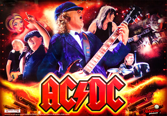 ACDC Pinball Machine Backglass