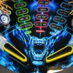 Alien Pinball Flipper Playfield Closeup