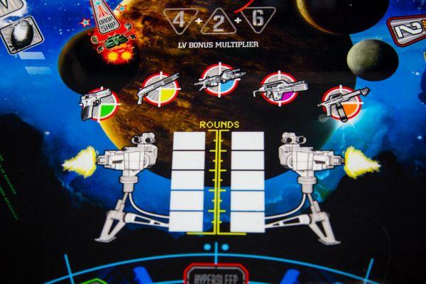 Alien Pinball Rounds Playfield Close Up