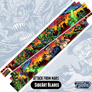Attack From Mars Pinball Sideblades Brian Allen