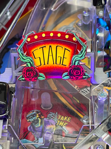 JJP Guns N' Roses Pinball Stage Sign Mod