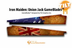 Union Jack Iron Maiden Pinball Art Blades