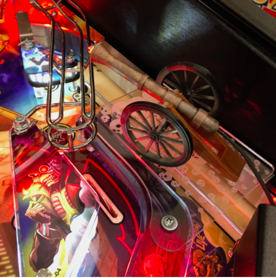 Iron Maiden Pinball Machine Trooper Cannon Mod