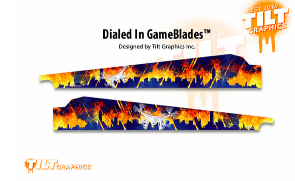 Dialed In! Pinball Machine Game Blades - TILT Graphics