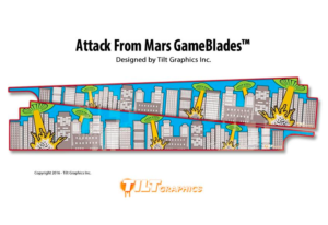 Attack From Mars Pinball Game Blades
