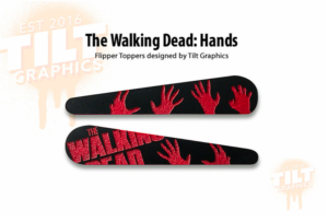 Walking Dead Terror Pinball Flipper Bat Toppers