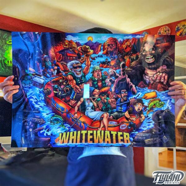 White Water Alternate Pinball Translite featuring Artwork by Brian Allen