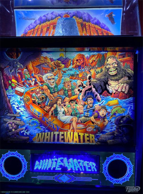 White Water Alternate Pinball Art by Brian Allen
