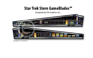Star Trek Stern Pinball Machine Game Blades